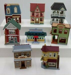 Lot of 8 Hallmark - Nostalgic Houses and Shops - Ornaments