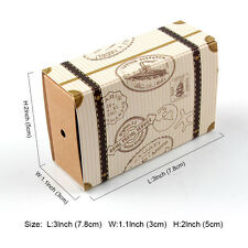 10 Travel Suitcase Drawer Design Wedding Party Favour Gift Kraft Paper Candy Box