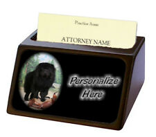 Chow Chow black Pet Breed Personalized Business Card Holder