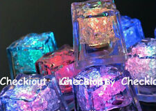 6 Color led ICE Float Waterproof Wedding Floral Tea Vase Centerpiece cube light