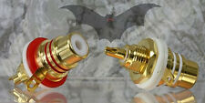 Vampire Wire #CM1F/CB Pure Copper Base Chassis Mount RCA DIY audio/ 1 Pair