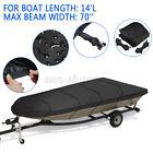 Black For Jon Boat Cover For Jon Boat 12ft-18ft L Beam Width Up To 75 Inch 210d
