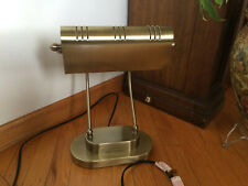 Vintage Brass Piano Banker Table Desk Lamp Portable