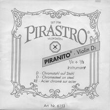 Corde à l'unité Violon Pirastro 1/4 1/8 Violin D3 Ré Acier chromé sur acier