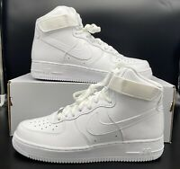 Nike Air Force 1 High '07 White Men's Size 315121-115 Leather All White