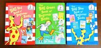 Lot of 3 HB The BIG Book of Beginner Books by Dr. Seuss RED, BLUE, and GREEN L1