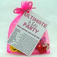 BRIDE TO BE HEN PARTY SURVIVAL KIT NOVELTY FUN PERSONALISED GIFT PRESENT FAVOUR