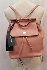 NEW Dolce&Gabbana Sicily Pink Leather Backpack Shoulder Bag Purse Handbag $2,245