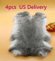 2pcs Wholesale Real Rabbit Fur Pelt 100/% Genuine Rabbit Fur Skin For Pets Bags