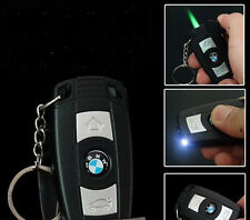 BMW Car Key LED lamp Windproof Gas Butane Cigarette Lighter Refillable EQ