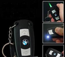 BMW Car Key LED lamp Windproof Gas Butane Cigarette Lighter Refillable DA