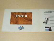 Prospectus voiturette LIGIER OPTIMA II 1992 Microcar catalogue brochure prospekt
