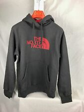 NEW NORTH FACE HALF DOME HOODIE GRAPHITE RED MENS S SMALL SWEATSHIRT FAST SHIP