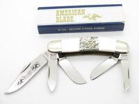 VTG AMERICAN BLADE PARKER SEKI JAPAN PEARL ABALONE SOWBELLY FOLDING KNIFE
