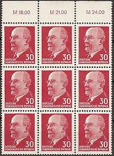 Briefmarken DDR MiNr 935 XxI 3xOR3  W.Ulbricht **