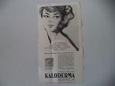 advertising Pubblicità 1963 KALODERMA BIANCA