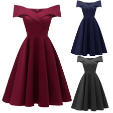 Lady Evening Long Prom Dress Classic One Shoulder V Neck Bridesmaid Party Formal