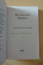"Alexander McCall Smith autógrafo signed Taschenbuch ""Blue Shoes and happiness"""