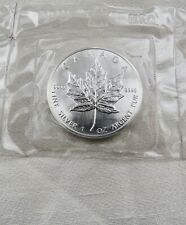 1989   $5 One Ounce Silver Maple Leaf.9999 FACTORY SEALED  RCM