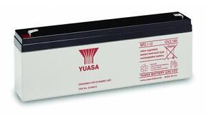 YUASA 12v 2.1Ah (2.3Ah) Fire & Burglar Alarm Rechargeable Battery 1 Yr Wnty