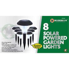 8 X accionado por energía solar Luces De Jardín Acero Inoxidable Wireless Auto Día & Noche Sensor