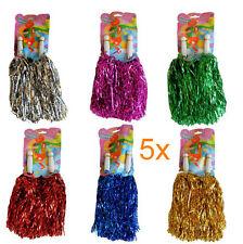 5 Paar = 10 einzelne Püschel Cheerleader Pompoms Pompom Pompon Tanzwedel JGA Pom
