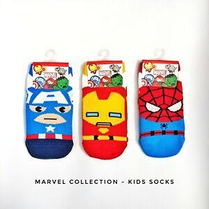 Super hero Marvel kids socks ankle sock (3 - 5 years old). Made in Korea. Gift