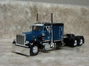 DCP 1/64 Black Teal 359 Peterbilt Semi Truck Farm Toy