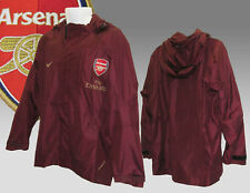 New NIKE ARSENAL Football Player Issue Storm Proof RAIN JACKET Red Currant XL