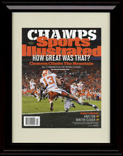 Framed Clemson Tigers Champs Sports Illustrated Autograph Replica Print - 2016
