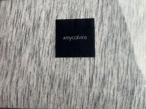 Calvin Klein Modern Cotton Strata Duvet Cover King Marble Black White NWT