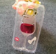 For Samsung Galaxy CORE Prime G360 - Clear Red Wine Glass TPU Rubber Case Cover