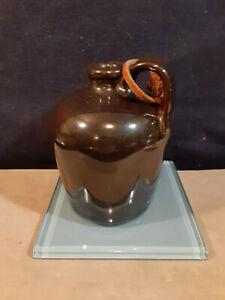 "Brown, Single Handle Jug Labeled Pinewood  Aug 9 1949 Fairhope, ALA. 4"" Tall"