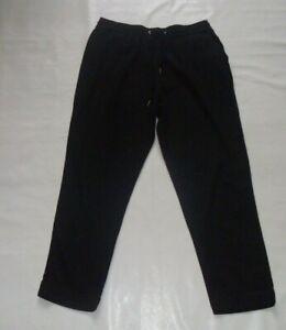 Studio Black Linen Blend Trousers Size 12