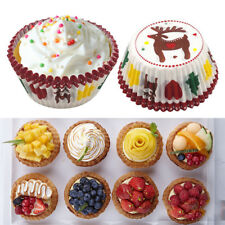 100Pcs Paper Cake Cupcake Liner Case Party Baking Muffin Cup Christmas Party