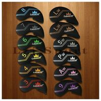 US Stock 12pcs Neoprene Golf Iron Wedge Head Covers for Taylormade Titleist Ping