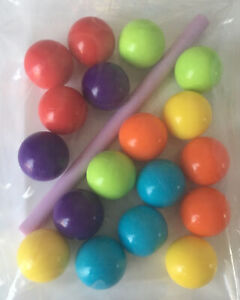 WobBally Game SPARE REPLACEMENT Coloured Balls X18 (3 Of Each Colour) & 1x Stick
