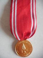 medaglia di gratitudine vigili del fuoco pompieri