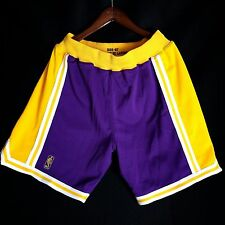 100% Authentic Mitchell & Ness Lakers Purple NBA Shorts Size Small - kobe bryant