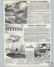 1970 PAPER AD Ames Aire Molla Solaria Patio Casula Furniture
