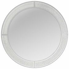 Innova Editions Crystal Beaded Round Mirror White