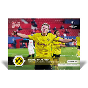 Europe Exclusive! - Erling Haaland - Borussia Dortmund - UCL Topps Now Card #42