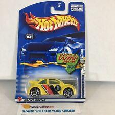 Volkswagen New Beetle Cup #45 * Yellow * 2002 Hot Wheels * NF19