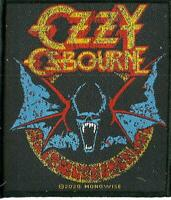 OZZY OSBOURNE bat 2020 WOVEN SEW ON PATCH official merchandise