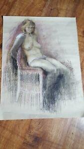 Signed Nude Study  Art Work 1979