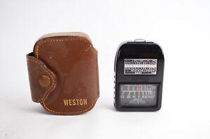 Weston Light Meter Leather Case Model 853 Active Vintage