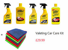Auto Car Products, Cleaning/Valeting Kit, Wax, Tyre Shine, Glass & Wheel Cleaner