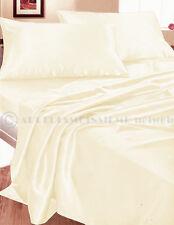 Completo MATRIMONIALE RASO PANNA lenzuola camera letto set biancheria fodere