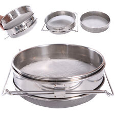 New Honey Strainer Stainless Steel Double Sieve Beekeeping Equipment Filter
