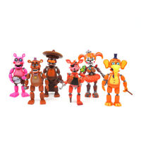 Five Nights at Freddy's FNAF 6'' Action Figures LED Light 6Pcs Toy Set Gift XMAS